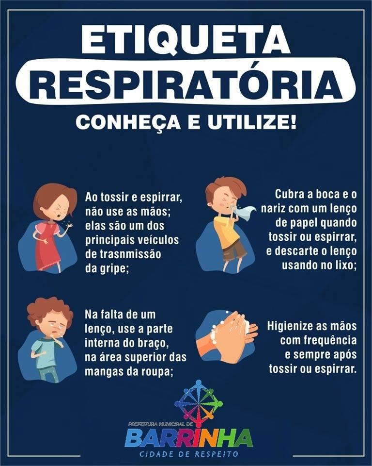 Pratique a etiqueta respiratória! #Prevenção #Saúde