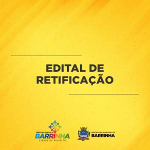 Edital de Retificação da Divulgação do Gabarito da Prova Prática do Processo Seletivo Frente de Trabalho 01/2020.