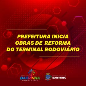 INICIADAS AS OBRAS NO TERMINAL RODOVIÁRIO.