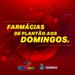FARMÁCIAS DE PLANTÃO AOS DOMINGOS.